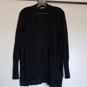 Black cardigan sweater